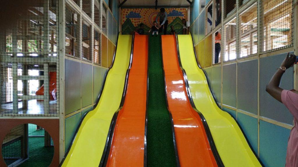 Play Day Cafe Mega Slides for kids